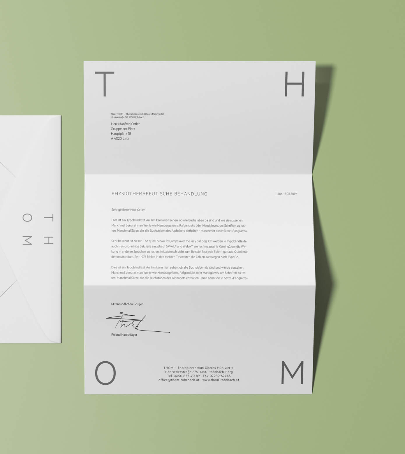 Branding Digital Design Corporate Identity Briefpapier