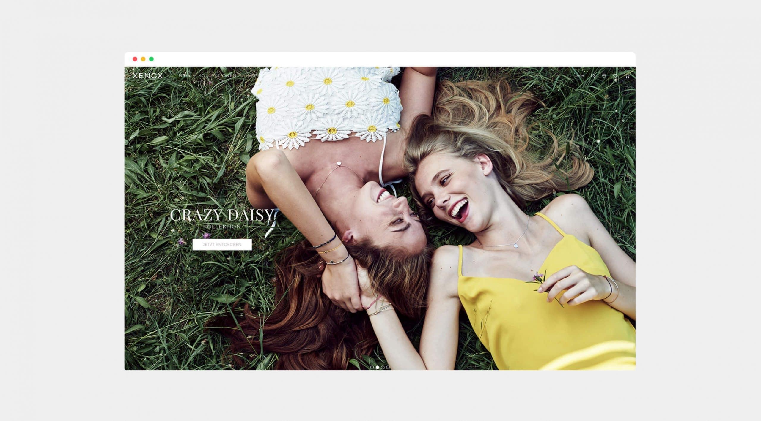 Website Onlineshop Digitale Projekte Branding Desktop