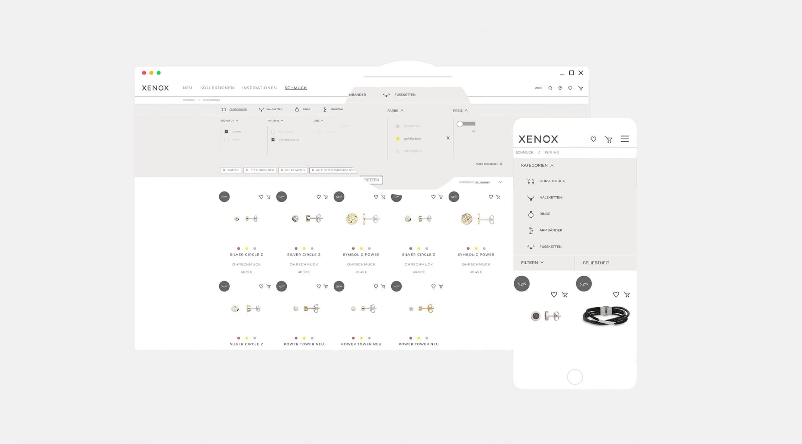 Website Onlineshop Digitale Projekte Identity