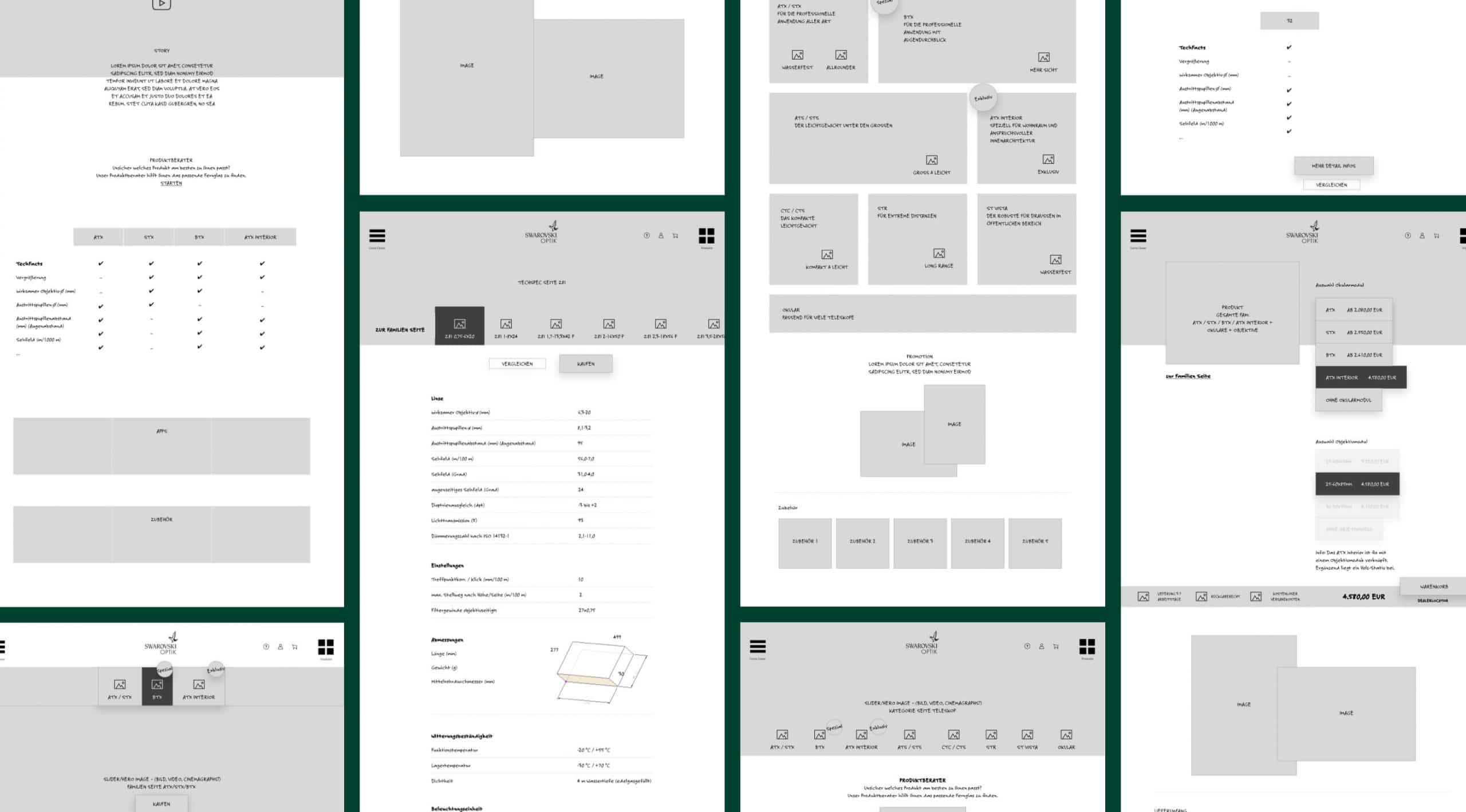 Wireframes Website Digital Projekte
