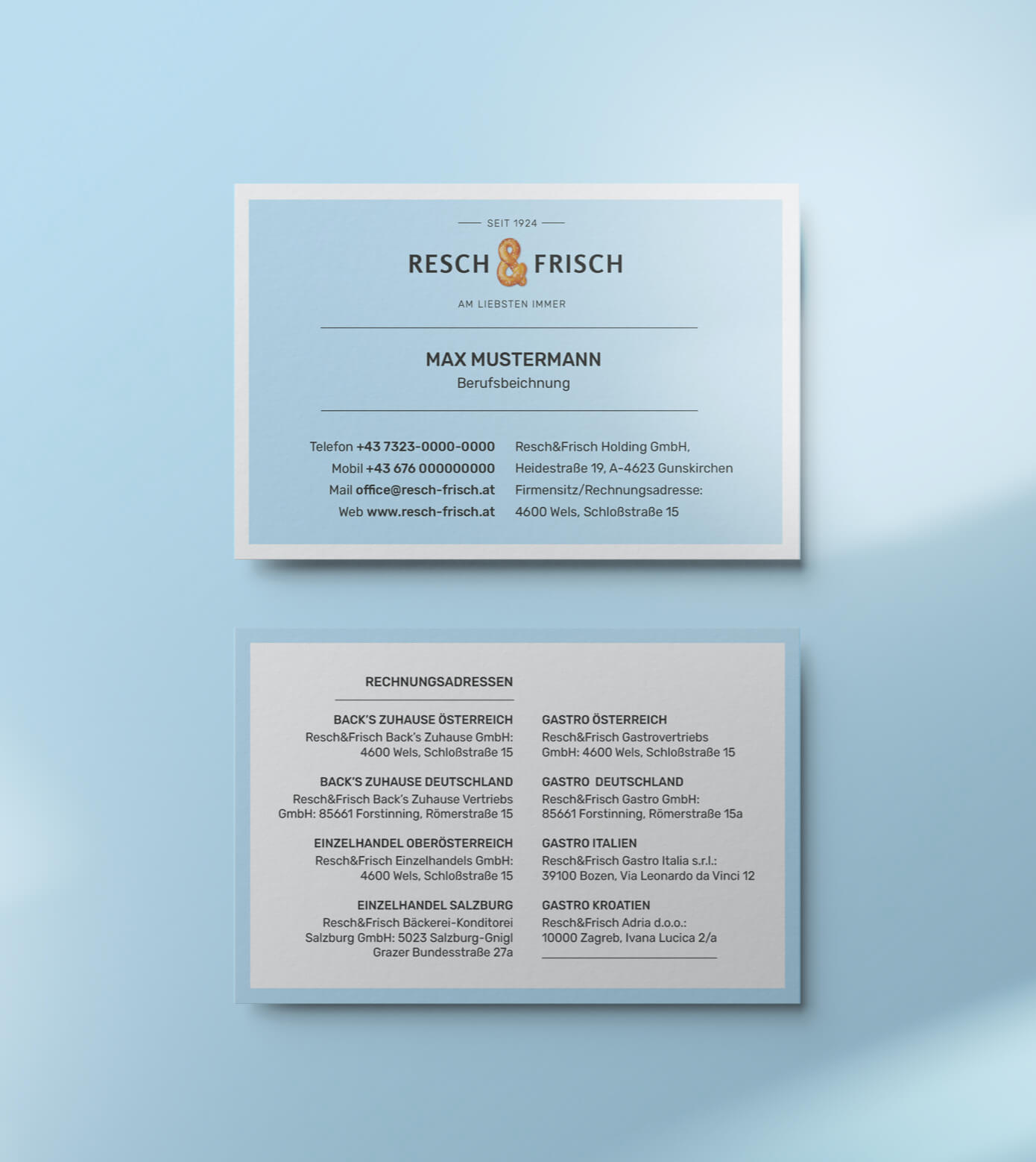 Branding Corporate Design Identity Visitenkarte